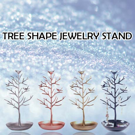 $66 for 1 Tree Shape Jewelry Stand; Comes in tree shape with birds on the branches! Artistic and adorable design! You can hang n
